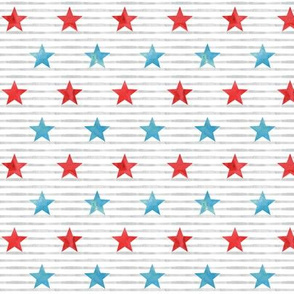 Stars and Stripes - Red and Light Blue - LAD19