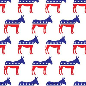 Democratic Party - Donkey - Red and blue - LAD19