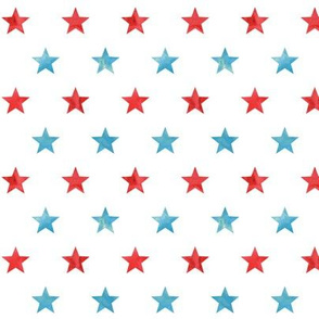 Red and Light Blue Stars - LAD19