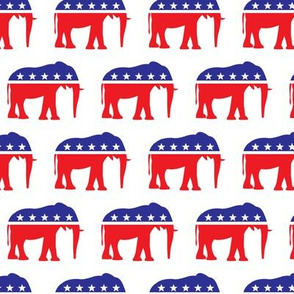 Republican Party - Elephants - Red and blue - LAD19