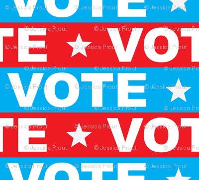 VOTE - Red & blue 2 - political party election - LAD19