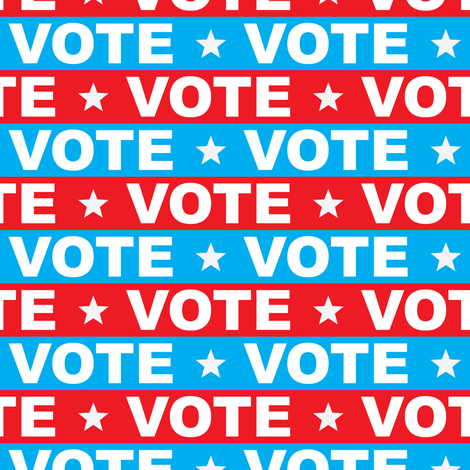 VOTE - Red & blue 2 - political party election - LAD19 fabric by littlearrowdesign on Spoonflower - custom fabric