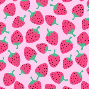 Strawberries // Bubblegum Pink