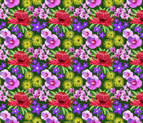 Aussie flora 4x4 fabric by leroyj on Spoonflower - custom fabric