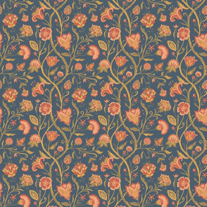 Traditional Indian Chintz blue