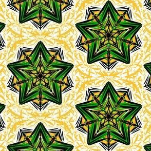 Green Stars in a Golden Glow