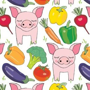 pigs-and veggies