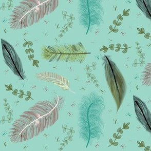 War Paint and Soft Feathers - Blue