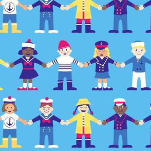 en avant moussaillons ! (little sailors)