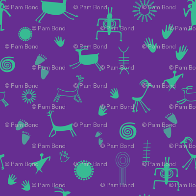 petroglyph 5_seaml_cropped tile_purple background_turquoise elements_01