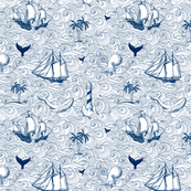 Vintage nautical journey