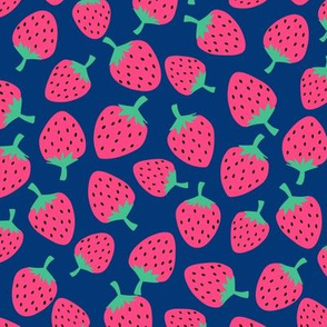Strawberries // Navy