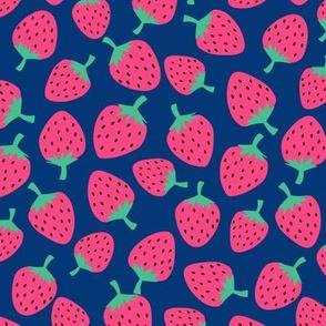 Strawberries // Navy
