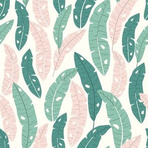 Banana Leaf Forest - Pink & Green