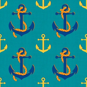 Nautical Anchor (Turquoise)