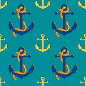 Nautical Anchor (Turquoise)