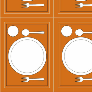 Montessori Placemat-Orange
