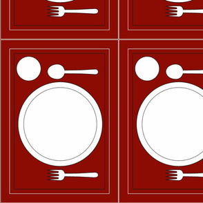 Montessori Placemat-Red
