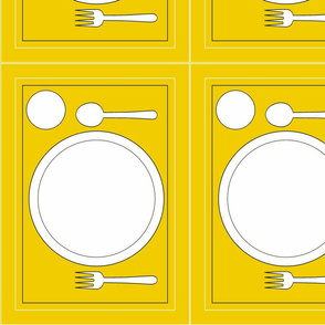 Montessori Placemat-Yellow