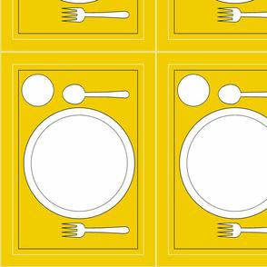 Montessori Placemat-Yellow
