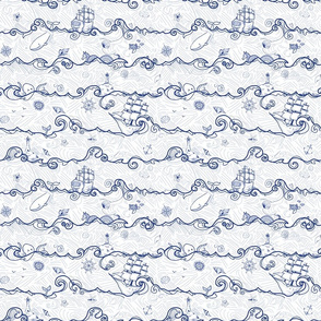 Seafaring Adventure // navy and white
