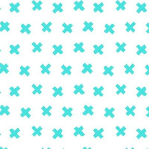 Geo X // Turquoise