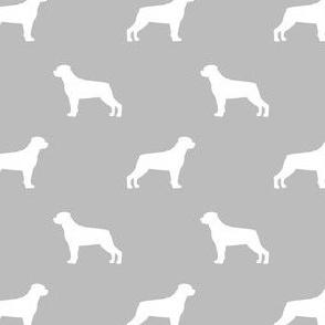 rottweiler silhouette dog fabric - dog breed fabric, dog wallpaper, silhouette dog wallpaper, rottweiler dog fabric - light grey