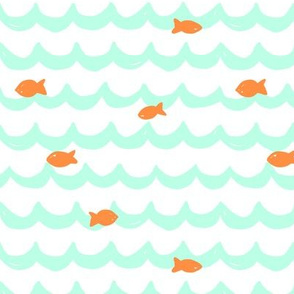 Summer Fishes // Mint + Orange