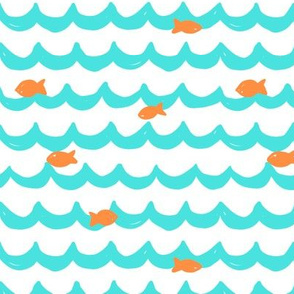 Summer Fishes // Turquoise + Orange