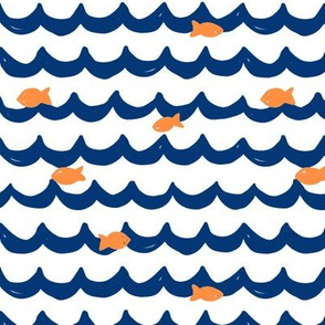 Summer Fishes // Navy + Orange