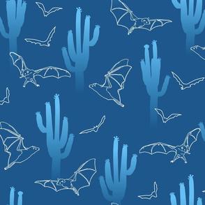 Blue Saguaro and Bats