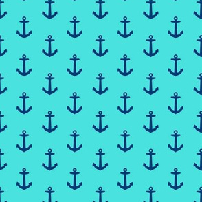 Ahoy Anchors // Turquoise + Navy