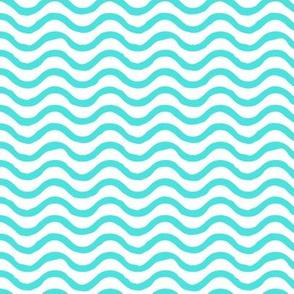 Wavy lines // Turquoise
