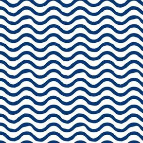 Wavy lines // Navy