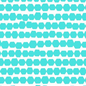 Happy Hexagons // Turquoise