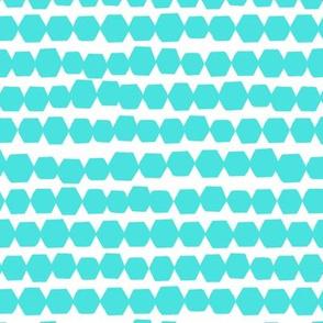 Happy Hexagons // Turquoise