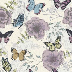 pollinating butterflies