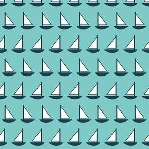 Little Sailboats Breeze (Maritime)