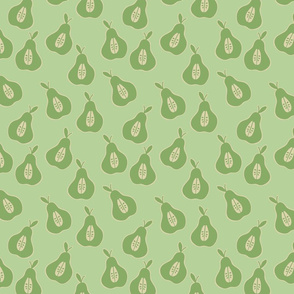 Pear pattern on pale Green