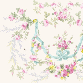 Rococo Rose Easter colors on vanilla