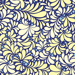 Yellow and White Tiles Ornament, seamless pattern