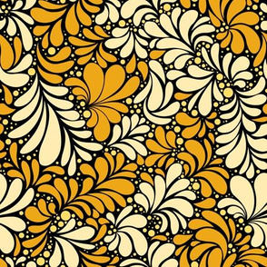 Damask silhouette texture