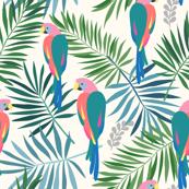 Parrot in tropics