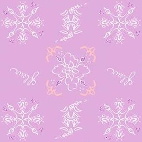 Lilac peach dream fleur