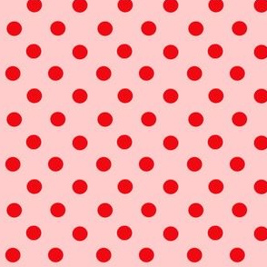 Red dots on pink
