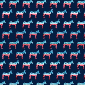 (small scale) Democratic Party - Donkey - Red and blue  C19BS