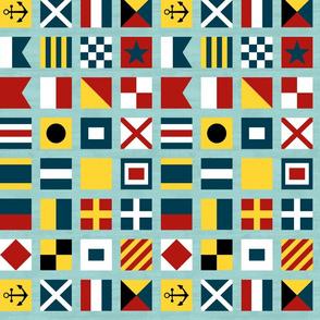 Nautical Flags Square - Regatta Colors