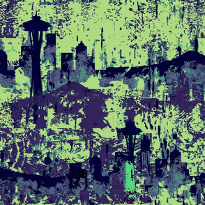 Seattle Grunge Zombie in a Psychedelic Purple Rain
