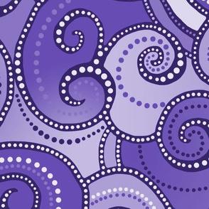 Rolling Waves - Purple Violet