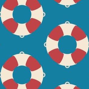 Nautical: Life preserver simple-light blue
